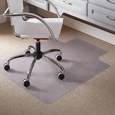 "ES Robbins - Lip Chair Mat, Task Series AnchorBar for Carpet up to 1/4"" - 36"" x 48"""