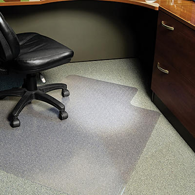 "ES Robbins - Lip Chair Mat, Task Series AnchorBar for Carpet up to 1/4"" - 45"" x 53"""