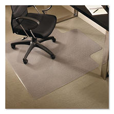 "ES Robbins AnchorBar 36"" x 48"" Professional Series Lip Chair Mat, Clear"