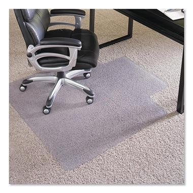 ES Robbins - Executive AnchorBar Chairmat w/Lip, Plush Pile - 45 x 53