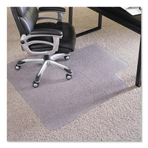 """ES Robbins - Executive AnchorBar Chairmat w/Lip, Plush Pile - 45 x 53"""""""