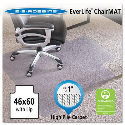 ES Robbins - Executive AnchorBar Chairmat w/Lip, Plush Pile - 46 x 60""