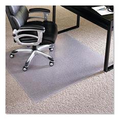 "ES Robbins - Executive AnchorBar Rectangular Chairmat, Plush Pile - 46 x 60"""