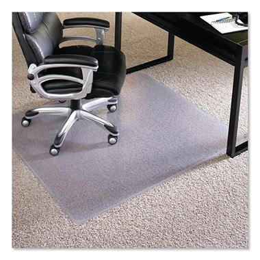ES Robbins - Executive AnchorBar Rectangular Chairmat, Plush Pile - 46 x 60""