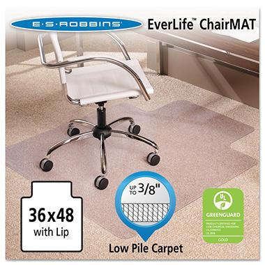 ES Robbins - AnchorBar Chairmat w/Lip, Med Pile - 36 x 48