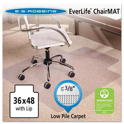 """ES Robbins - AnchorBar Chairmat w/Lip, Med Pile - 36 x 48"""""""