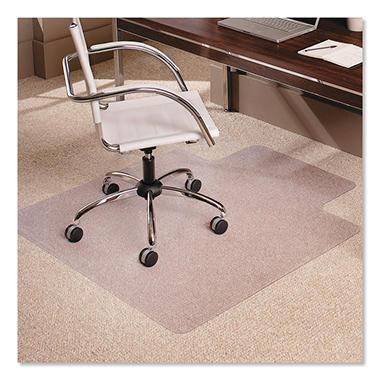 """ES Robbins - AnchorBar Chairmat w/Lip, Med Pile - 45 x 53"""""""
