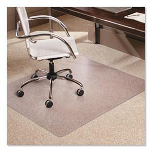 """ES Robbins 46"""" x 60"""" AnchorBar Rectangular Chairmat, Clear"""