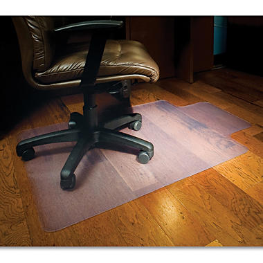 ES Robbins - Heavy-Duty Chairmat w/Lip, Hard Floor - 45 x 53