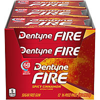 Dentyne Fire Spicy Cinnamon Sugar Free Gum - 16 ct. - 12 pk.