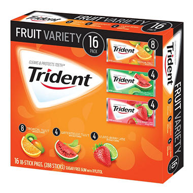 Trident Fruit, Variety Pack (16 ct.)