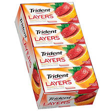 Trident Layers Strawberry + Citrus Sugar Free Gum - 14 ct. - 10 pk.