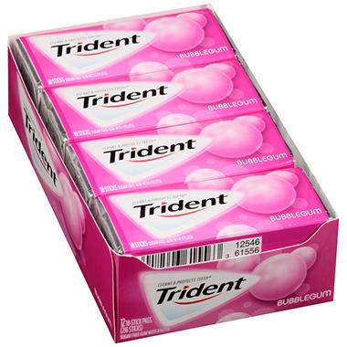 Trident Bubblegum Sugar Free Gum - 18 ct. - 14 pk.