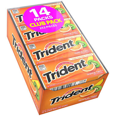 Trident® Tropical Twist™ - 18 stick pks. - 12 ct.