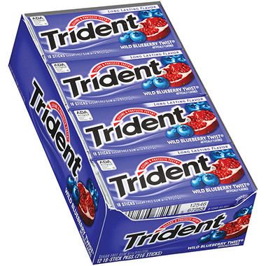 Trident® Wild Blueberry Twist® Gum - 12/18 ct.