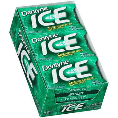 Dentyne Ice Spearmint Sugar Free Gum - 16 pc. - 9 pk.
