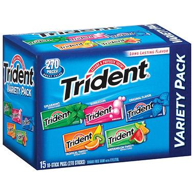 Trident® Variety Pack - 15 pk.