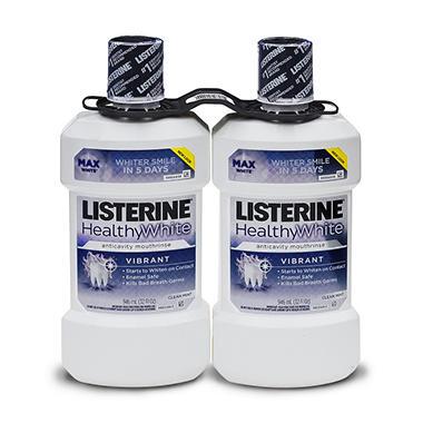 Listerine Vibrant White Mouthwash - 2pk. - 32 oz.