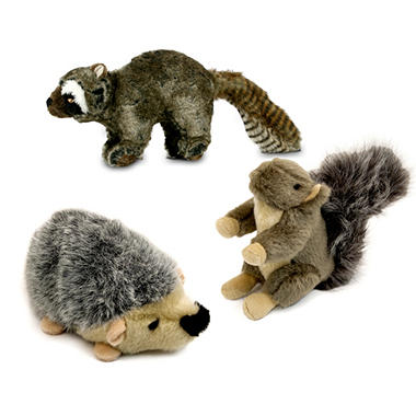 Wildlife Critter Plush Dog Toys - 3 pk.
