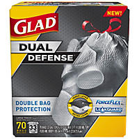 Glad Dual Layer Large Outdoor Drawstring Trash Bags (33 gal. 70ct.)