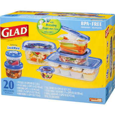 GladWare� Containers Variety Pack - 20 ct.