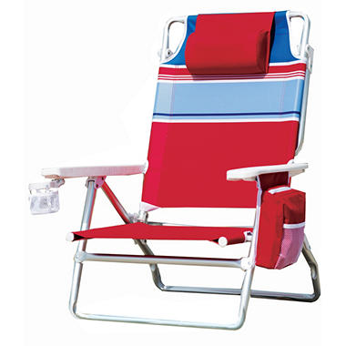 Beach Chair Stripe Red
