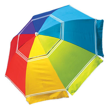 7' Beach Umbrella Rainbow