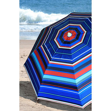 7' Beach Umbrella - Stripe