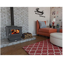 US Stove 3,000 sq. ft. EPA Certified Wood Burning Stove with Ash Vacuum