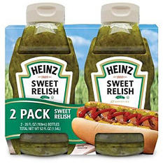 Heinz Sweet Relish - 26 oz. bottles - 2 pk.