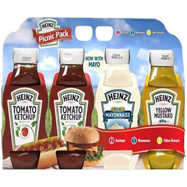 Heinz Picnic Pack with Ketchup, Mustard and Mayo