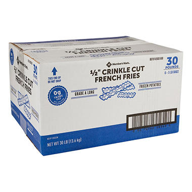 Valley Select® Crinkle Cut French Fries - 6/5 lb.