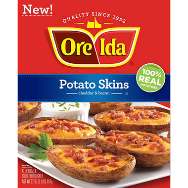 Ore-Ida Potato Skins, Cheddar and Bacon (32 oz.) - Sam's Club