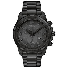 Citizen Eco-Drive Men's Black Ion Plated Chronograph