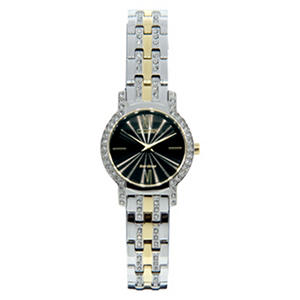 Citizen Eco-Drive Ladies' Two-Tone Stainless Steel Watch with Swarovski Crystals
