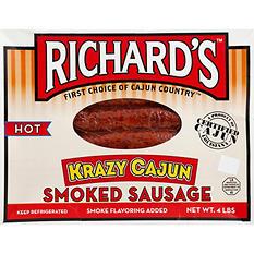 Richard's Hot Krazy Cajun Smoked Sausage (4 lb.)