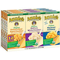 Annie's Organic Mac and Cheese Variety Pack (6 oz. box, 12 ct.)