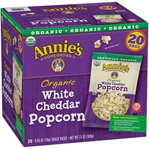 Annie's Organic White Cheddar Popcorn Snack Pack (20 ct.)