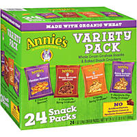 Annie's Homegrown Bunny Whole Grain Grahams and Baked Snack Crackers Variety Pack 1 oz. (24 ct.)