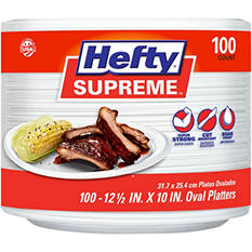 Hefty Supreme Oval Foam Platters (100ct.)
