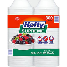 Hefty Supreme Foam Bowls Heavyweight, 12 oz. (300 ct.)