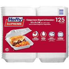 Member's Mark Hefty One-Compartment Hinged Lid Container (125 ct.)