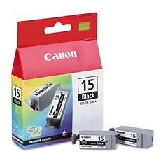 Canon BCI-15 Ink Tank Cartridge, Black (2 pk.)