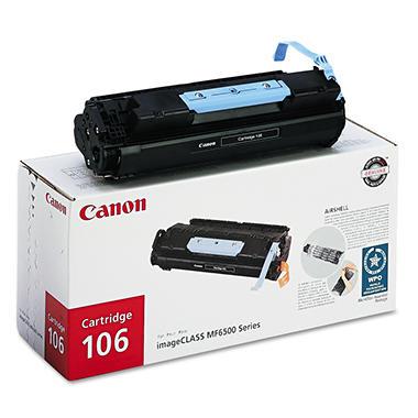 Canon 106 Toner Cartridge, Black (5,000 Page Yield)