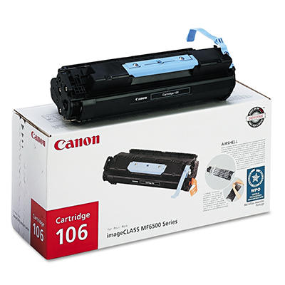 Canon 106 Toner Cartridge, Black (5,000 Page Yield)