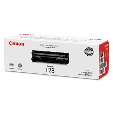 Canon 128 Toner Cartridge, Black (2,100  CNM3500B001AA