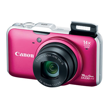 Canon SX230 12.1MP Digital Camera - Red