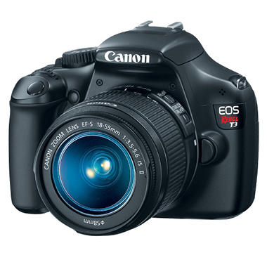 Canon T3 12.2MP Digital SLR Camera with 18-55mm f/3.5-5.6 IS II Lens
