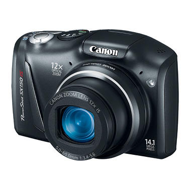 Canon SX150 14.1MP Digital Camera - Black