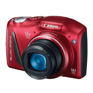 Canon SX150 14.1MP Digital Camera - Red